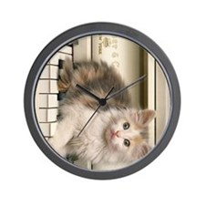 piano kitty ipad Wall Clock