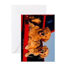 golden pu ipad Greeting Card
