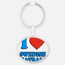 I Love Swedish Meatballs Oval Keychain