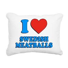 I Love Swedish Meatballs Rectangular Canvas Pillow
