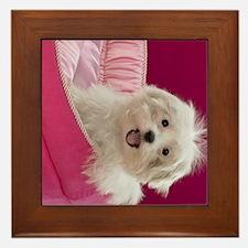 pink pup ipad Framed Tile
