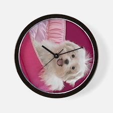 pink pup ipad Wall Clock