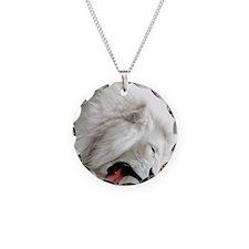 white lion ipad Necklace