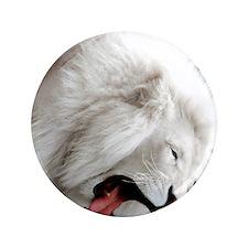 """white lion ipad 3.5"""" Button"""