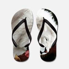 white lion ipad Flip Flops