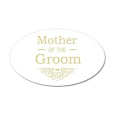 Mother of the Groom gold Wall Sticker