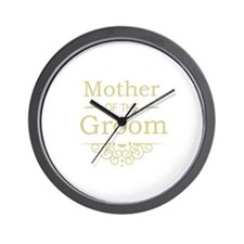 Mother of the Groom gold Wall Clock