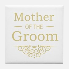 Mother of the Groom gold Tile Coaster