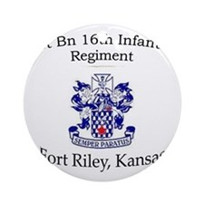 1st Bn 16th Inf Round Ornament