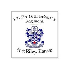 "1st Bn 16th Inf Square Sticker 3"" x 3"""