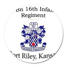 1st Bn 16th Inf Round Car Magnet