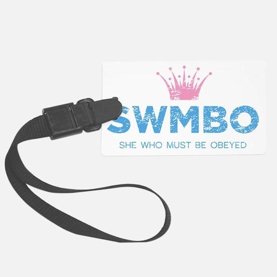 SWMBO_BLUE Luggage Tag