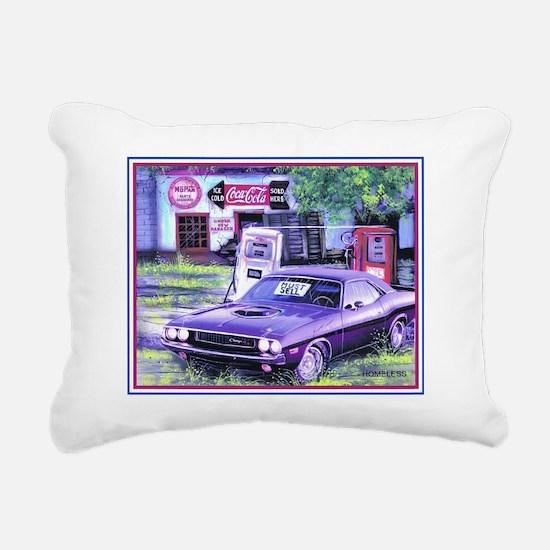 1970 Challenger Homeless Rectangular Canvas Pillow