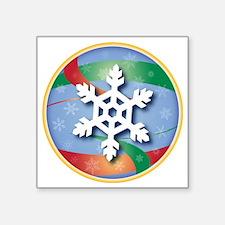 """SNOWFLAKE 3 Square Sticker 3"""" x 3"""""""