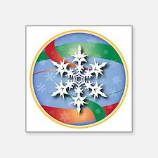 """SNOWFLAKE 1 Square Sticker 3"""" x 3"""""""