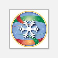 """SNOWFLAKE 2 Square Sticker 3"""" x 3"""""""