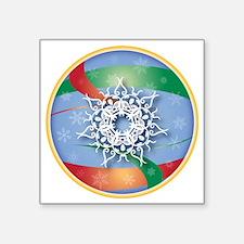 """SNOWFLAKE 7 Square Sticker 3"""" x 3"""""""