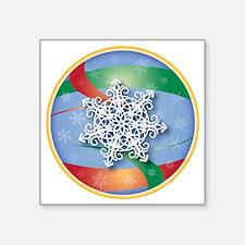 """SNOWFLAKE 6 Square Sticker 3"""" x 3"""""""