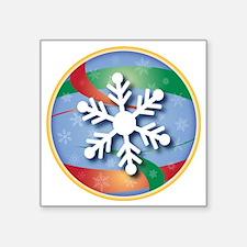 """SNOWFLAKE 10 Square Sticker 3"""" x 3"""""""