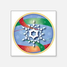 """SNOWFLAKE 9 Square Sticker 3"""" x 3"""""""
