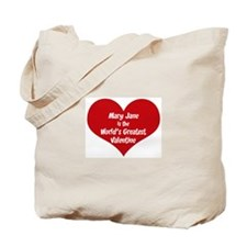 Greatest Valentine: Mary Jane Tote Bag