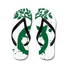 green recycle Flip Flops