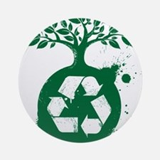 green recycle Round Ornament