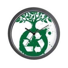 green recycle Wall Clock