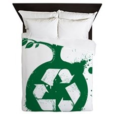 green recycle Queen Duvet