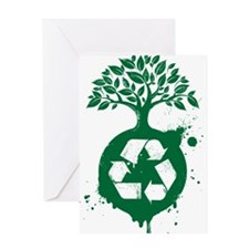 green recycle Greeting Card