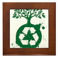 green recycle Framed Tile