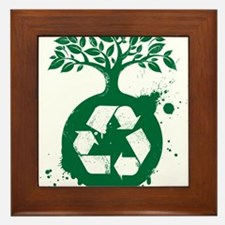 green recycle Framed Tile