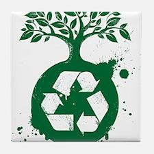 green recycle Tile Coaster