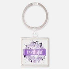 twilight wreath purple copy Square Keychain
