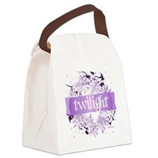 twilight wreath purple copy Canvas Lunch Bag