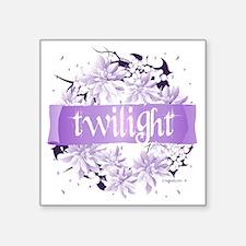 "twilight wreath purple copy Square Sticker 3"" x 3"""