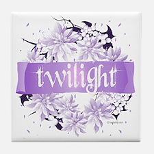 twilight wreath purple copy Tile Coaster