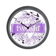 twilight wreath purple copy Wall Clock