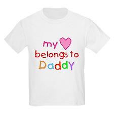 My Heart Belongs to Daddy (A) Kids T-Shirt