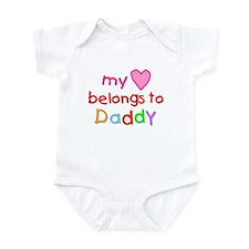 My Heart Belongs to Daddy (A) Infant Bodysuit