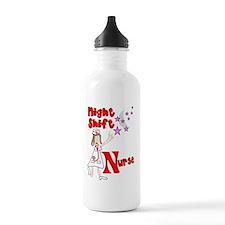 Night Shift Nurse Water Bottle