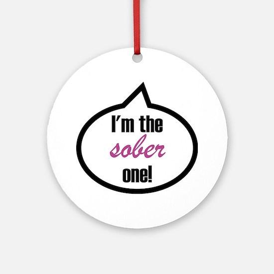Im_the_sober Round Ornament