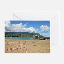 CalendarHanaleiBay Greeting Card
