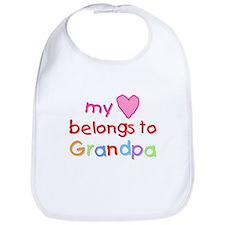My Heart Belongs to Grandpa (A) Bib