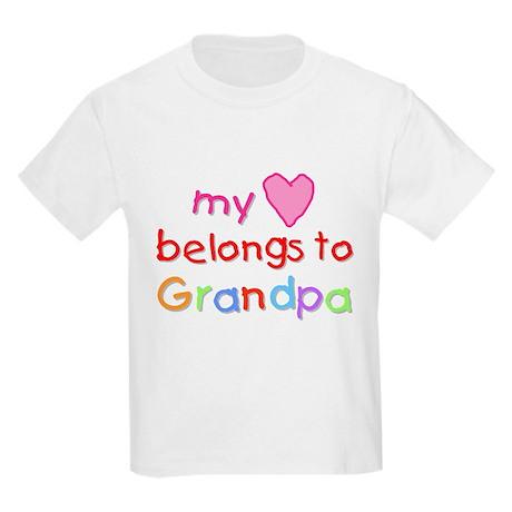 My Heart Belongs to Grandpa (A) Kids T-Shirt