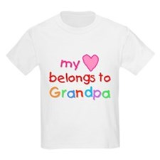 My Heart Belongs to Grandpa (A) Kids T-Shirt