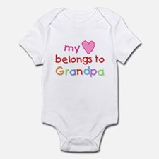 My Heart Belongs to Grandpa (A) Infant Bodysuit