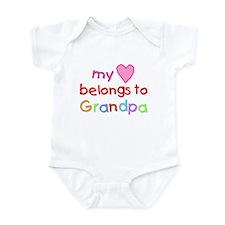 My Heart Belongs to Grandpa (A) Onesie