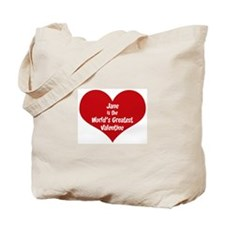 Greatest Valentine: Jane Tote Bag
