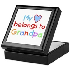 My Heart Belongs to Grandpa (B) Keepsake Box